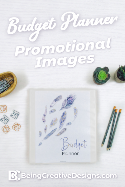 Budget Planner Promotional Mockups - Feathers