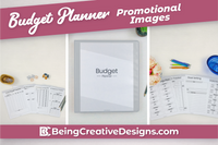 Budget Planner & Promotional Resources - Minimal Black and White