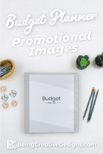 Budget Planner Promotional Mockups - Minimal Black and White