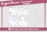 Budget Planner & Promotional Resources - Minimal Purple