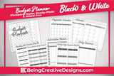 Budget Planner - Black and White