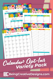 Calendar Opt-in Variety Pack - Colorful Style