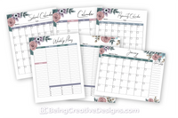 Calendar Opt-in Variety Pack - Floral Style