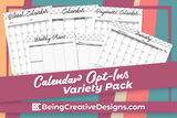 Calendar Opt-in Variety Pack - Black and White Style