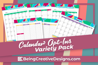 Calendar Opt-in Variety Pack - Bright Style
