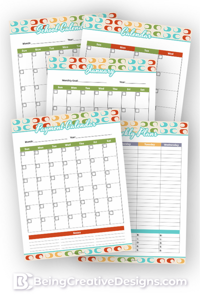 Calendar Opt-in Variety Pack - Retro Style