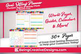 Colorful Goal Setting Planner
