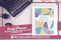 Daily Planner {130+ Pages} - Geometric