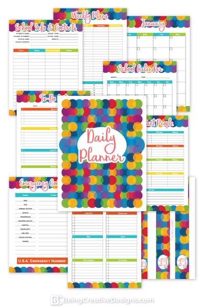 Daily Planner Colorful