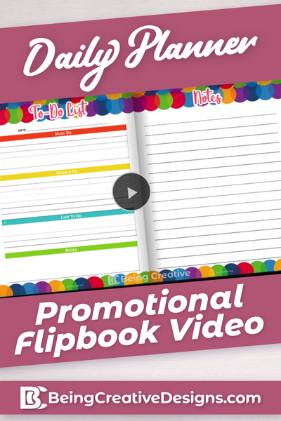 Daily Planner Flipbook Promotional Video - Colorful
