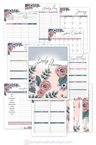 Daily Planner Floral