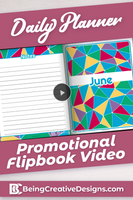 Daily Planner Promotional Flipbook Video - Bright