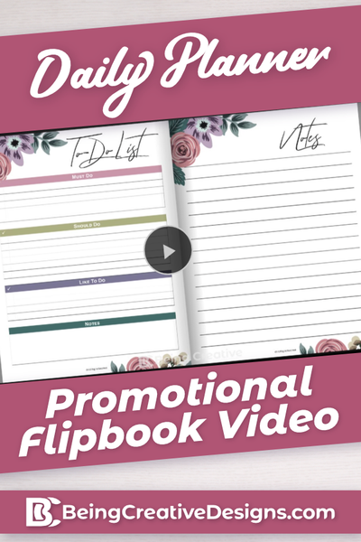 Daily Planner Promotional Video - Floral