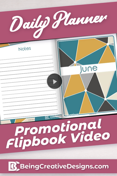 Daily Planner Promotional Flipbook Video - Geometric