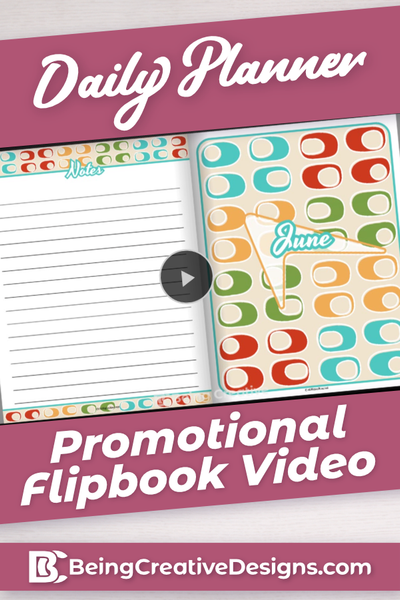 Daily Planner Promotional Flipbook Video - Retro