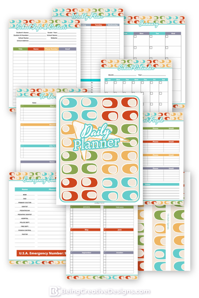 Daily Planner Retro