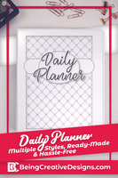 Black and White Daily Planner