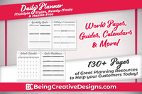 Black and White Daily Planner Information