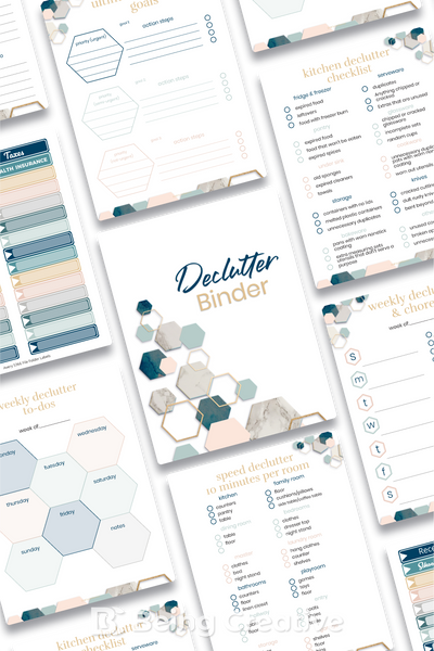 Declutter Binder - Hexagons