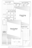 Declutter Cleaning Binder Bundle - Minimal Black and White
