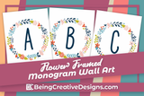 Flower Framed Monogram Wall Art