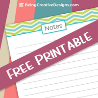 Everyone needs a place to jot down some notes. Why not make it a cute printable? This Notes Free Printable is great for personal use and also to give away for free to your readers.