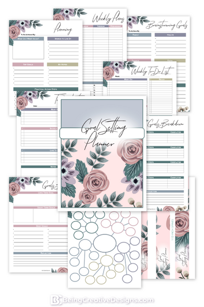 Goal Setting Planner Floral