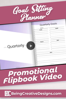Goal Setting Planner Promotional Flipbook Video - Minimal Purple