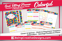 Goal Setting Planner - Colorful