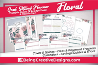 Goal Setting Planner - Floral