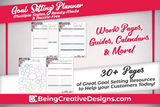 Floral Goal Setting Planner