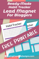 Habit Tracker Free Printable for Bloggers