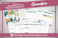 Home Management Planner - Geometric