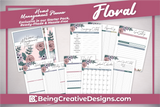 Lifestyle Starter Pack Floral Home Management Planner