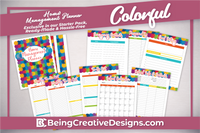 Lifestyle Starter Pack Colorful Home Management Planner