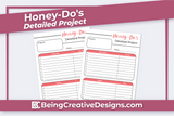 Honey-Dos Detailed Project List