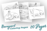 Lifestyle Starter Pack Barnyard Coloring Pages