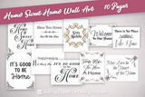 Lifestyle Starter Pack Home Sweet Home Wall Art