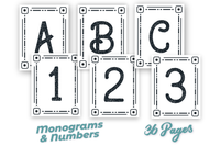 Lifestyle Starter Pack Monograms and Numbers