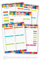 Meal Planning Opt-in Variety Pack - Colorful Style