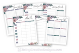 Meal Planning Opt-in Variety Pack - Floral Style