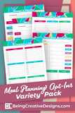 Meal Planning Opt-in Variety Pack Bright