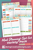 Meal Planning Opt-in Variety Pack Retro