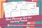Meal Planning Variety Pack - Minimal Purple