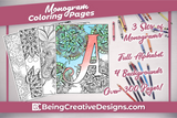 Monogram Coloring Pages Sets