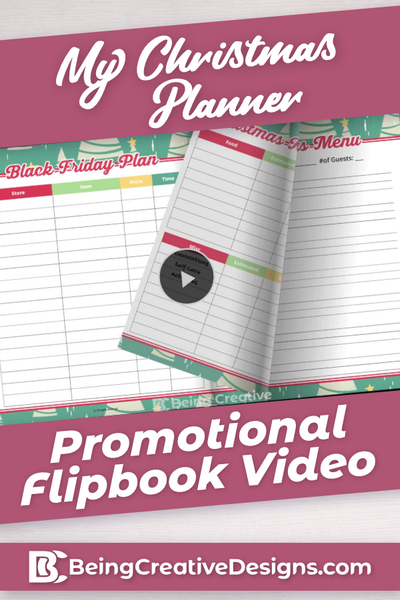 My Christmas Planner Promotional Flipbook Video - Christmas Trees