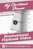 My Christmas Planner Promotional Flipbook Video - Winter
