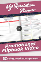Resolution Planner Promotional Flipbook Video