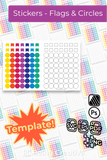 Sticker Template - Flags and Circles