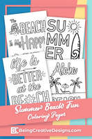 Summer Beach Fun Coloring Pages